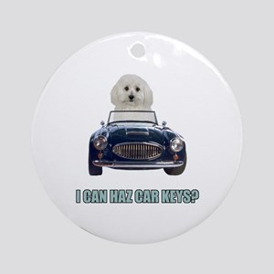LOL Bichon Frise Ornament (Round)